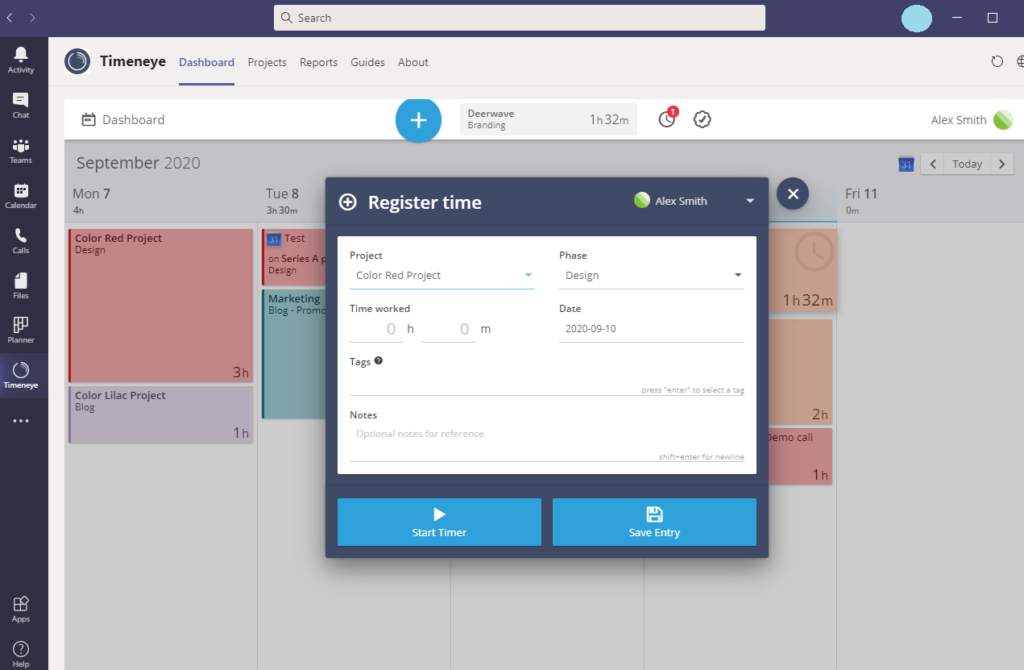 microsoft teams time tracking